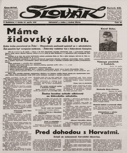 Slovak newspaper
