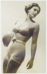 © Austrian swimming champion, Ruth Langer, models a line of swimwear.- from the USHMM, circa 1936